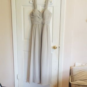 revelry Dresses - Revelry prom/bridesmaid gown size 6 taupe/gray
